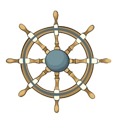Ship steering whee vector