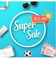 super sale poster vector image
