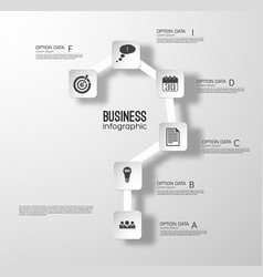 web step infographic concept vector image