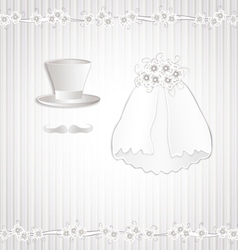 Wedding vintage vector image