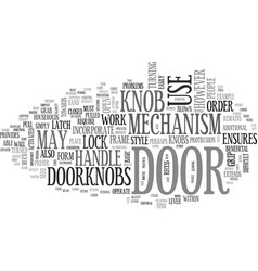 which door handle should you choose text word vector image vector image