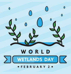 World wetlands day vector