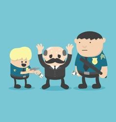 Businessman corruption arrested vector