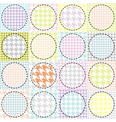 Patchwork with a circles pattern vector image