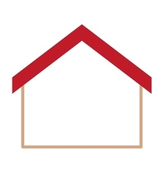 Isolated house home design vector
