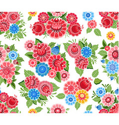 Cute seamless texture with stylized flowers vector