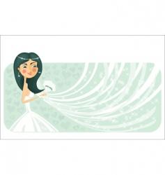 bride banner vector image