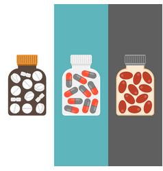 medicine bottle with tablets inside vector image