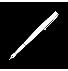 White pen icon vector