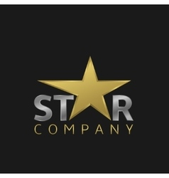 Star logo icon vector