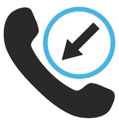 Incoming call flat pictogram vector