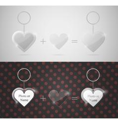 glass heart keychain vector image