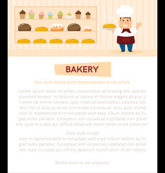banner with baker vector image vector image
