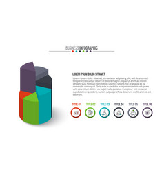 business infographics circle graph vector image vector image