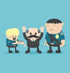 Businessman corruption arrested vector