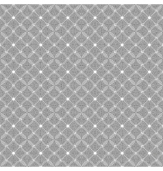 Circles seamless pattern black and white vector image