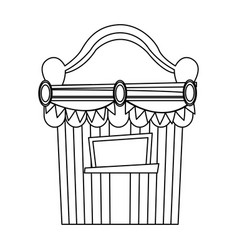 circus tickets sale kiosk cartoon booth pennant vector image