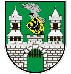 coat of arms of zielona gora city in lubusz vector image
