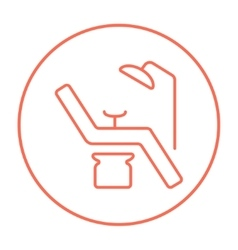 Dental chair line icon vector image