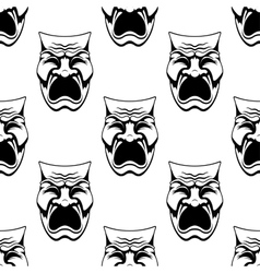 Dramatic doodle sketch masks seamless background vector