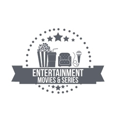 entertainment concept design vector image vector image