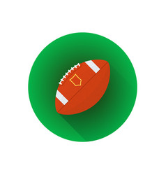 flat american football ball vector image vector image