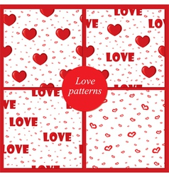 Four love patterns vector