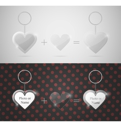 glass heart keychain vector image vector image