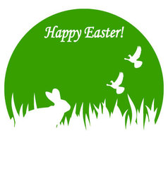 greeting card to a happy easter vector image vector image