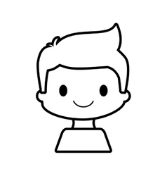 happy boy character avatar vector image