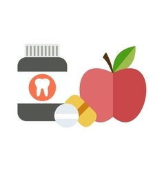 Health balanced diet concept choice between two vector image
