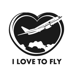 I love to fly vector image vector image