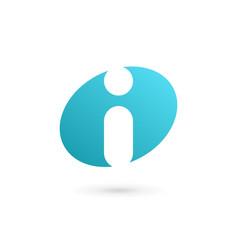 letter i info logo icon design template elements vector image
