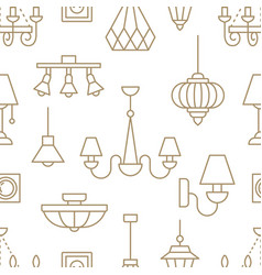 light fixture lamps seamless pattern line vector image vector image