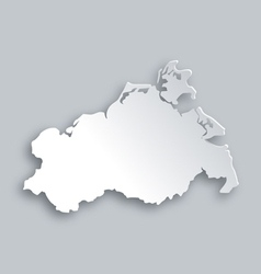 Map of Mecklenburg-Vorpommern vector image vector image