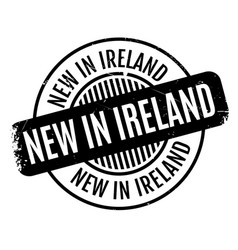 New in ireland rubber stamp vector