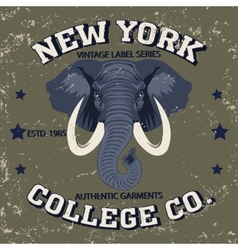 new york t-shirt vector image vector image