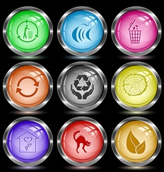 recycling bin fish recycle symbol protection vector image
