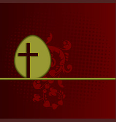 red design with easter egg and cross vector image