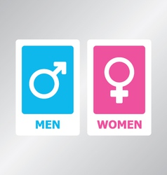 Restroom Sign Color vector image vector image