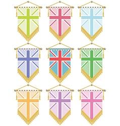 uk banners vector image