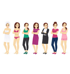 woman day set vector image vector image