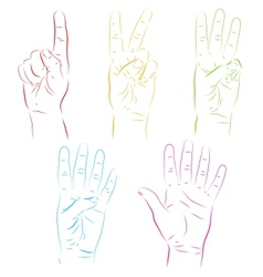 Human hands make numbers vector