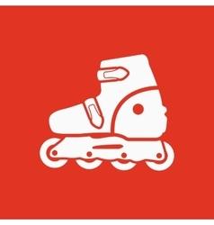 The roller skate icon Skates symbol Flat vector image