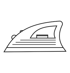 Iron icon outline style vector