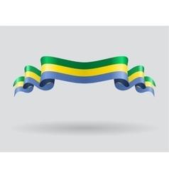 Gabon wavy flag vector