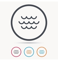 Wave icon water stream sign vector