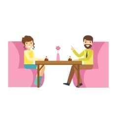 Man and woman on romantic date smiling person vector