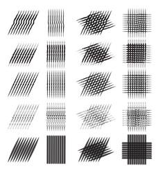 set of various pencil strokes halftone vector image