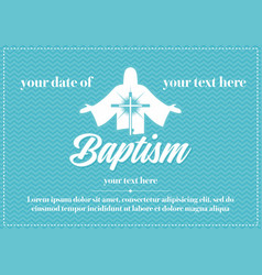 Postcard christian baptism vector